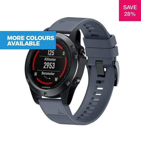 28% off on 22mm Silicone Replacement Band for Garmin Fenix