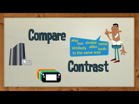 Common words used in compare and contrast essays