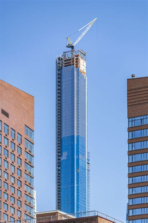 Central Park Tower's Glass Curtain Wall Approaches its