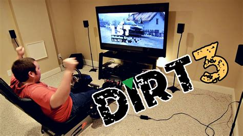 My PS3 Racing Setup and Some DiRT 3 Fun - YouTube