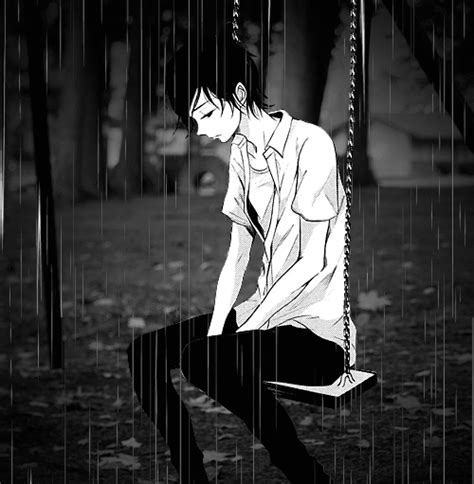 Sad anime boy by *I'm a Mannequin*   WHI