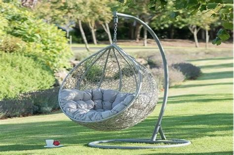B&M selling bargain hanging egg chair for the garden