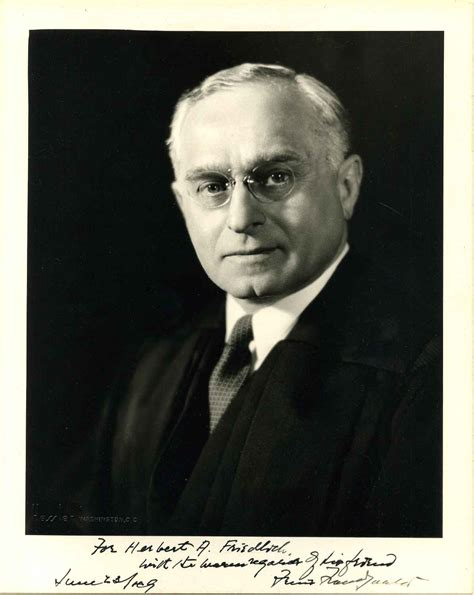 Photograph signed and inscribed by Felix Frankfurter