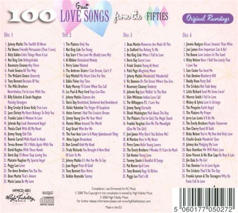 100 Great Love Songs of the Fifties - Various Artists