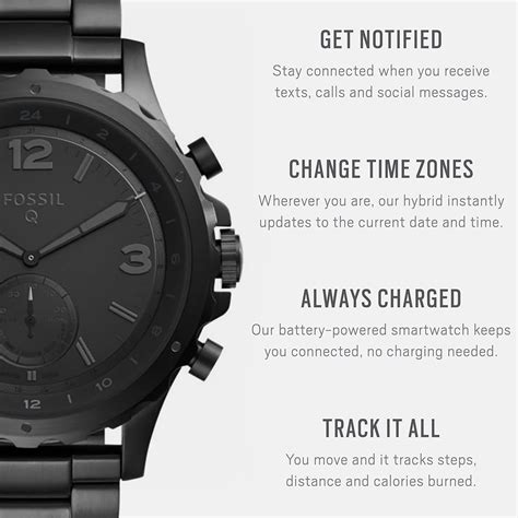Fossil Men's Nate Stainless Steel Hybrid Smartwatch with
