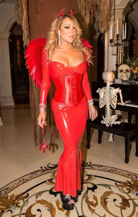 Mariah Carey Dresses Up as Sexy Devil for Annual Halloween