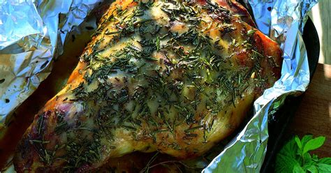 Baked Lamb with Rosemary with Redcurrant and Mint Sauce