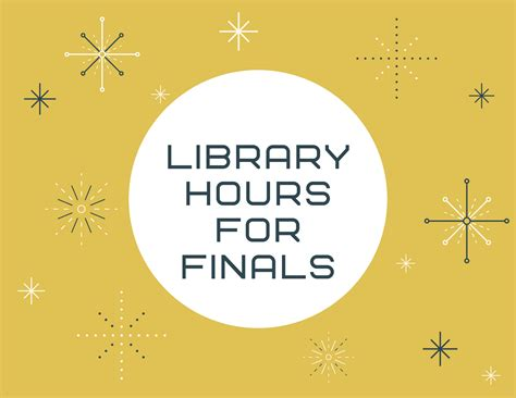 Extended hours for finals - NUNM Library